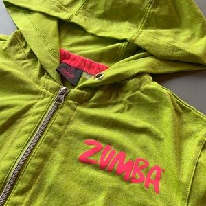 Rare Vintage Zumba Hoodie XS Green